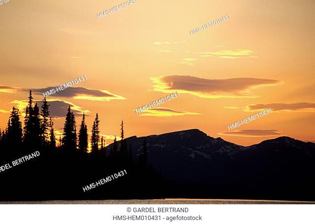 Canada, Alberta, the Rockies, Jasper National park, Maligne lake