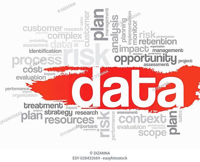 DATA word cloud, business concept