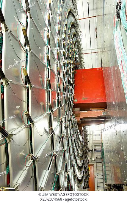 Batavia, Illinois - The 5, 000-ton DZero Detector at the Fermi National Accelerator Laboratory's Tevatron particle accelerator