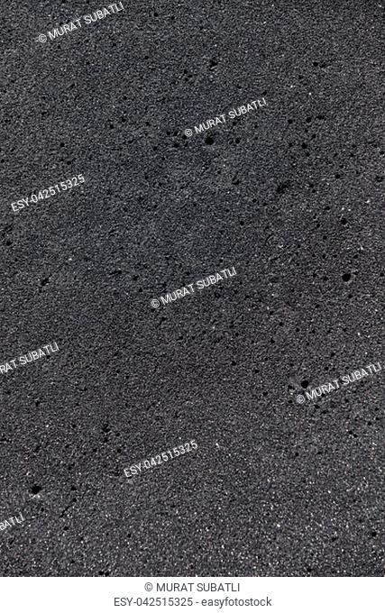 Black magma sand