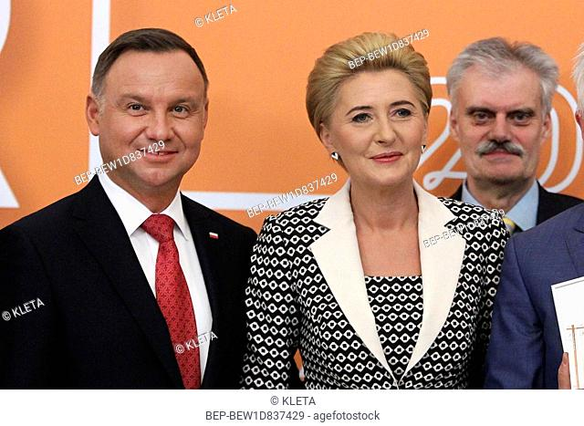 May 8, 2019 Warsaw, Poland. Pictured: President of Poland Andrzej Duda and Agata Duda