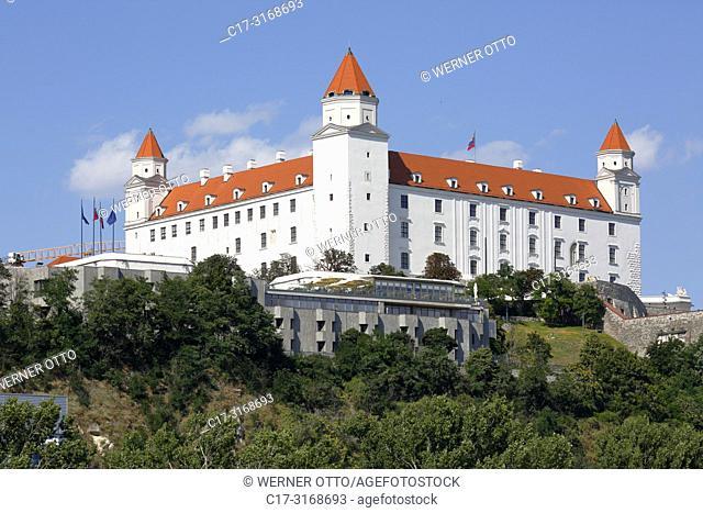 Bratislava, Slovak Republic, Slovakia, Bratislava, Capital City, Danube, Little Carpathians, Bratislava Castle on the castle hill, baroque *** Local Caption ***