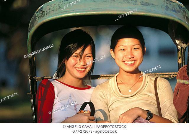 Laotian women. Luang Prabang, Laos