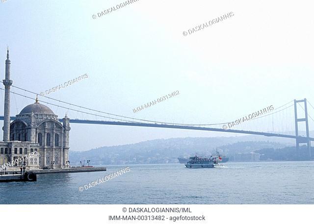 A view of Ataturk bridge on the Bosphorus , Istanbul, Turkey, Middle East