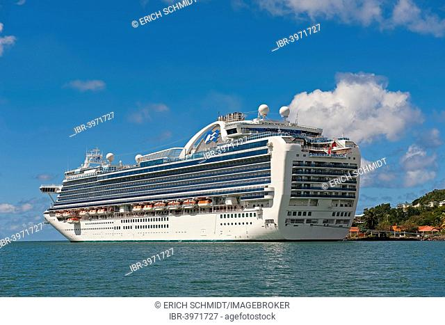 Cruise ship in Castries harbour, Charlotte, Castries, Saint Lucia