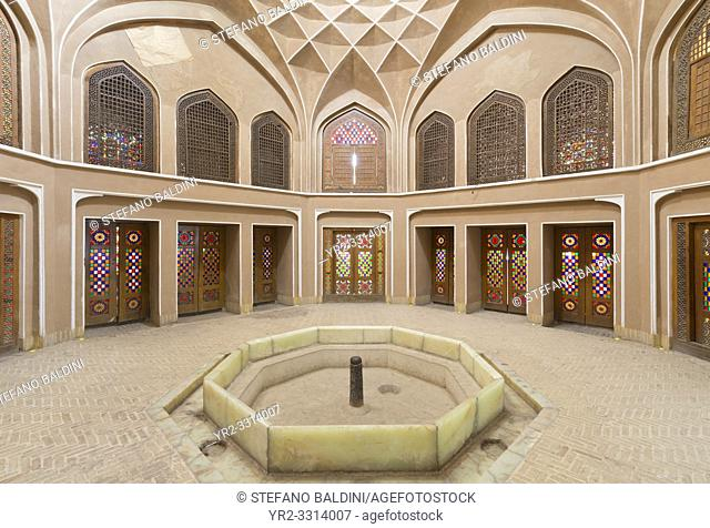 Bagh-e Dolat Abad historic building pavilion, Yazd, Iran