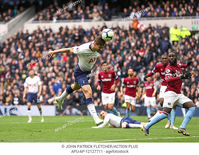 2019 EPL Premier League Football Tottenham Hotspur v West Ham Utd Apr 27th. 27th April 2019, Tottenham Hotspur Stadium, London England; EPL Premier League...