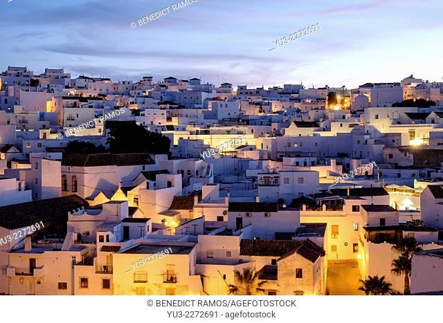 Vejer de la Frontera at night, Andalucía, Spain