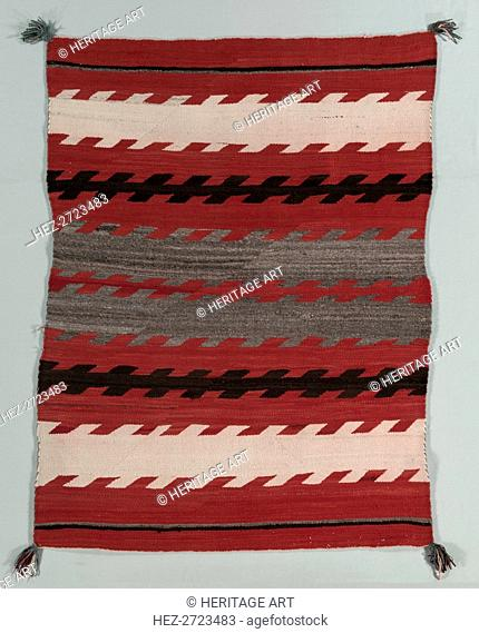 Banded Rug, c. 1890-1900. Creator: Unknown