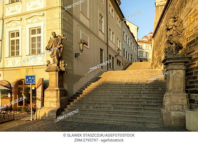Radnicke Schody (steps), Hradcany, Prague, Czech Republic
