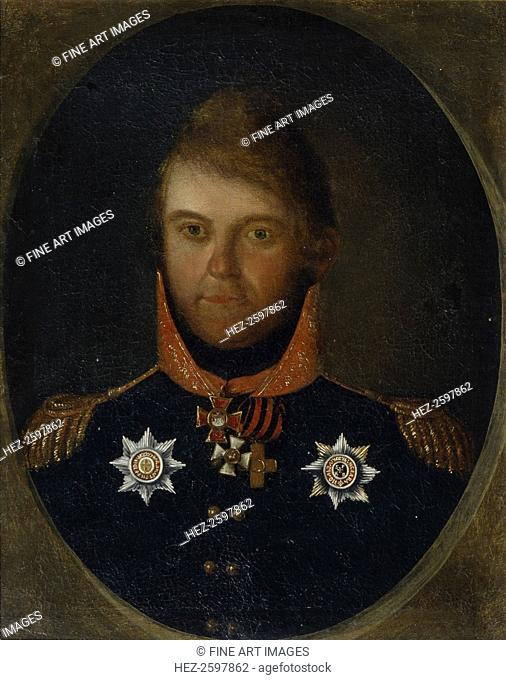 Portrait of Dmitry Petrovich Neverovsky (1771-1813), 1800s. Found in the collection of the State Borodino War and History Museum, Moscow