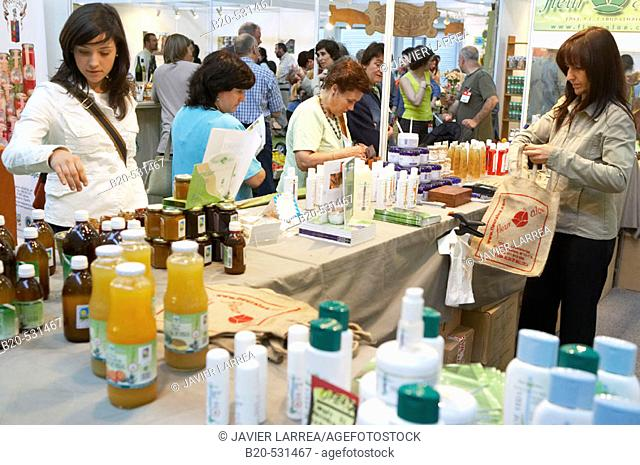 Ecological drinks and cosmetics. Bioterra, fair of organic products, ecological management and the environment, FICOBA, Basque Coast International Fair