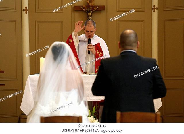 Wedding in a Catholic church