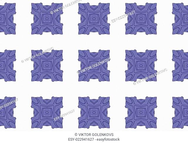 Ethnic pattern. Abstract kaleidoscope fabric design