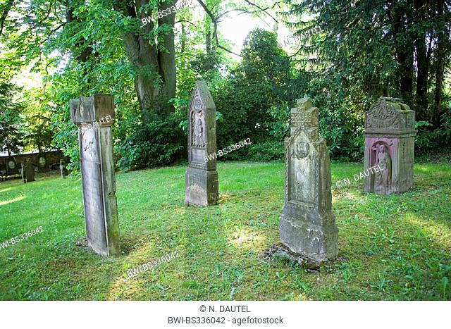 old graves of honor on a cemetery, Germany, Baden-Wuerttemberg, Baden-Baden