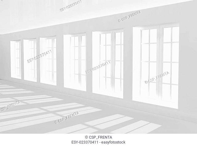 Interior of passage of white color