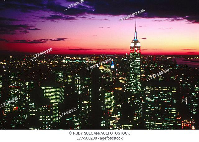 Empire State Building in Manhattan, New York City. USA