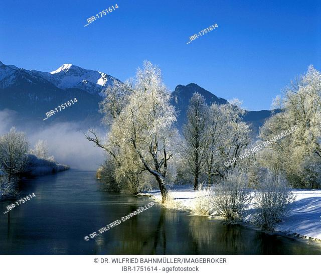 Lake Kochelsee below Mt. Heimgarten, Upper Bavaria, Germany, Europe