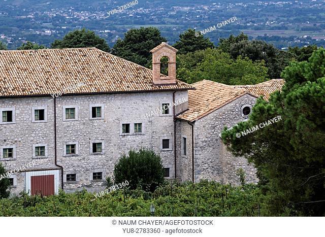 Abbey Vineyard, Abbey of Montecassino, Cassino, Italy, Europe, . .