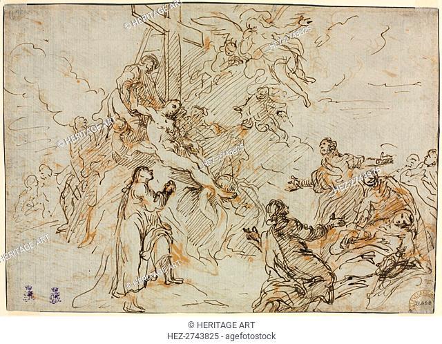The Deposition (verso), second half 18th century. Creator: Christian Wink (German, 1738-1797)