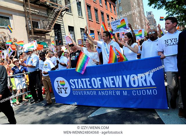 New York City Pride March 2016 Featuring: Sandra Lee, Governor of New York State, Andrew M. Cuomo, Cara Cuomo Where: New York City, New York