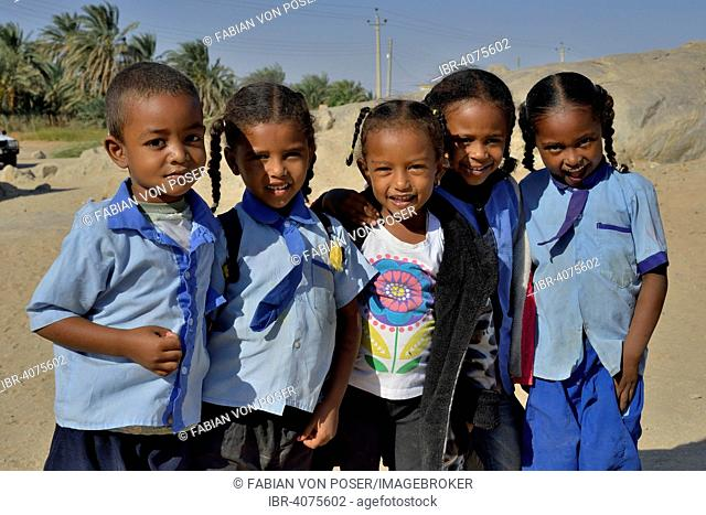 School children, Tombos, Nile Valley, Nubia, Sudan