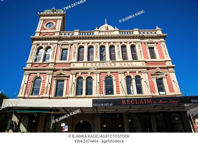 King Street, Newtown, St George's Hall, Sydney, Australia