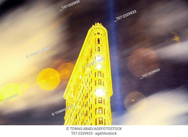 Flat Iron Building, Midtown Manhattan, 5th Avenue and Broadway, New York City, USA