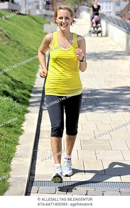 Woman is going for a run