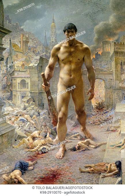 Henri Camille Danger (1857-1940), . Fléau !, . 1901, . Huile sur toile, Orsay Museum, Paris, France, Western Europe