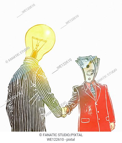 Collaboration of idea and money