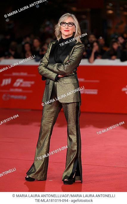 Lunetta Savino during the red carpet of film Motherless Brooklyn at the 14th Rome Film Festival, Rome, ITALY-17-10-2019