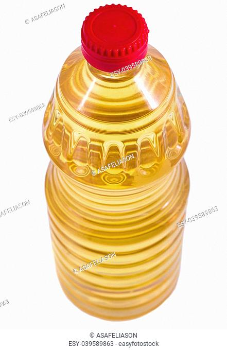 cooking oil bottle isolaten on white background