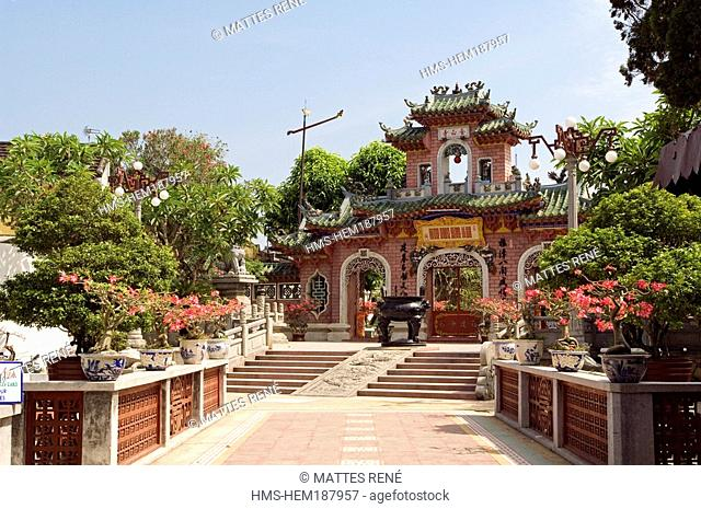 Vietnam, Quang Nam province, Hoi An, Old Town listed as Worl Heritage by UNESCO, Phuc Kien Temple
