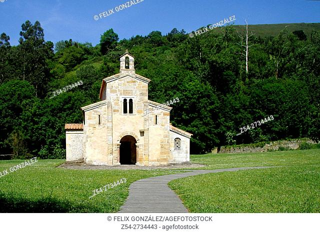 Pre-Romanesuqe church of San Salvador de Valdedios, Villaviciosa, Way of St James, Asturias, Spain