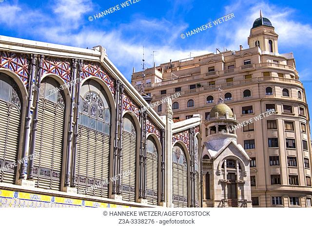 Central market hall in Valencia, Spain, Europe