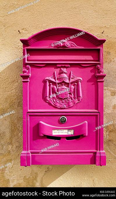 Post box in Lecce, Puglia, Italy