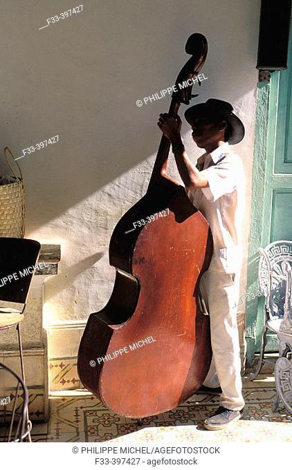 Traditional musician. Trinidad de Cuba. UNESCO World Heritage. Cuba