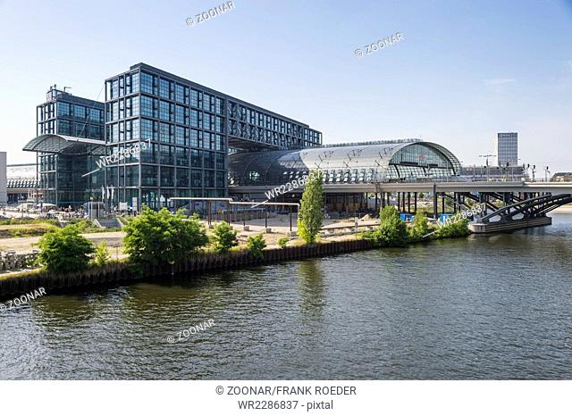 The Berlin Central Station on the River Spree
