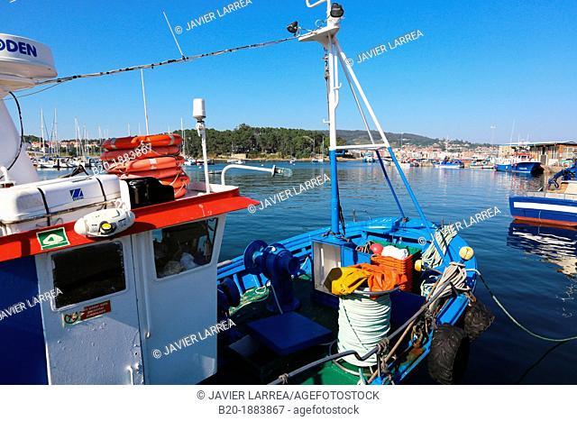 Fishing port, Ria de Pontevedra, Portonovo, Pontevedra province, Galicia, Spain