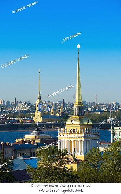Admiralty Spire And St Petersburg Skyline