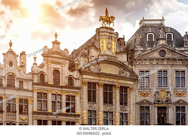 City Hall facade at Grand Central, Brussels, Belgium