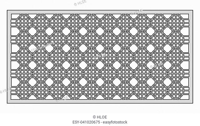 Template for cutting. Geometric pattern. Laser cut. Vector illustration