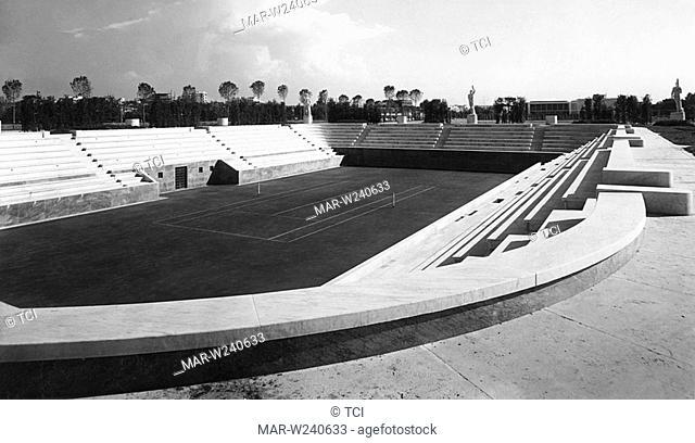 rome, foro italico, tennis, 1930-40