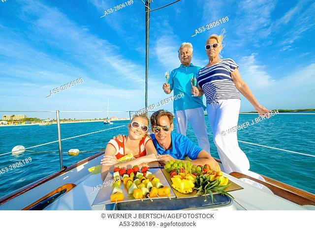Sailing in Aruba, Dutch Caribbean