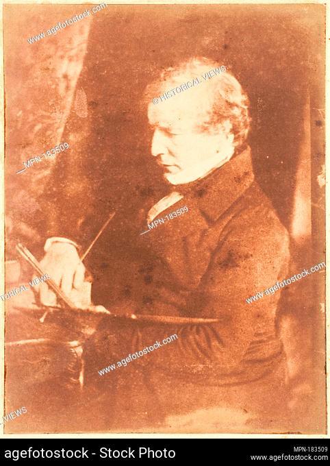 William Etty, R.A. Photography Studio: Hill and Adamson (British, active 1843-1848); Artist: David Octavius Hill (British, Perth, Scotland 1802-1870 Edinburgh