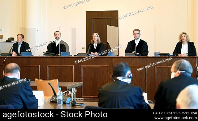 23 July 2020, Hamburg: Anne Meier-Göring (M), presiding judge in the trial against a 93-year-old former SS guard of the Stutthof concentration camp near Danzig