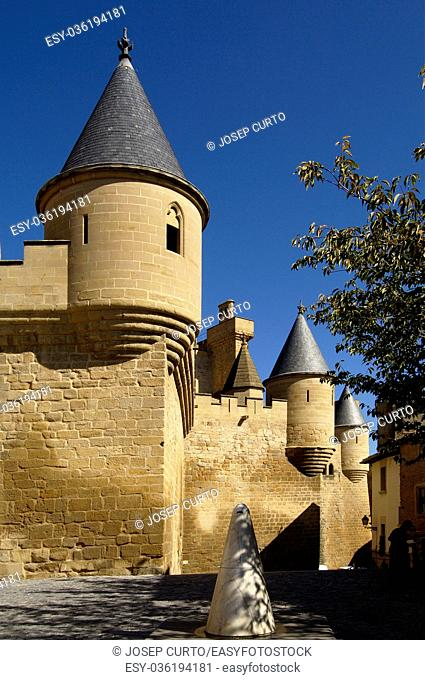 Castle - Palace of Olite, Navarra; Spain;