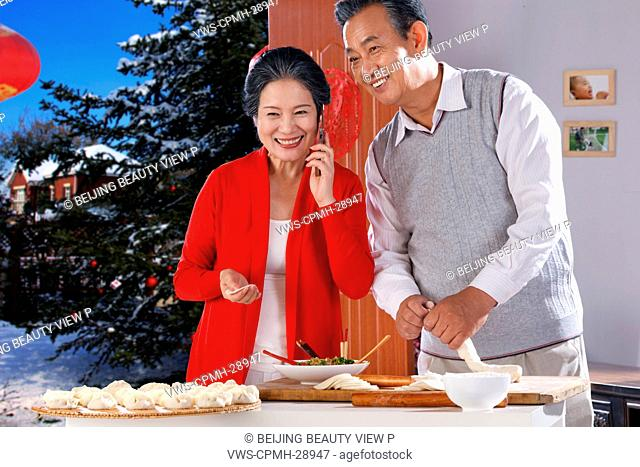 Chinese New Year celebrating