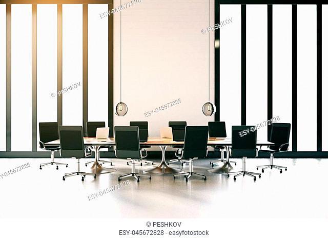 Modern conference room interior. 3D Rendering